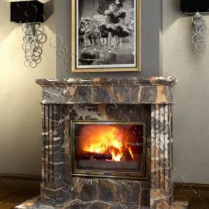 Мраморный каминный портал (облицовка) Арден, каталог (интернет-магазин) каминов из мрамора, изображение, фото 1
