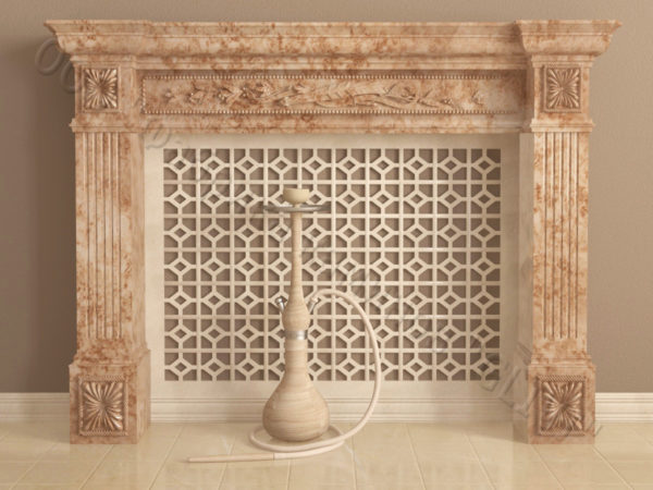 Имитация камина (фальш камин) из камня Арсений, каталог каминов, изображение, фото 2