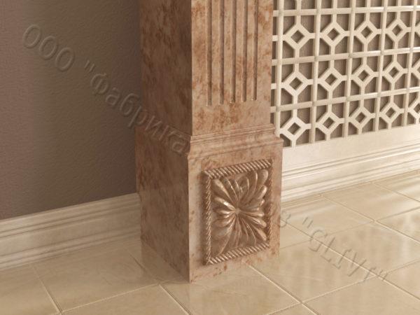 Имитация камина (фальш камин) из камня Арсений, каталог каминов, изображение, фото 3