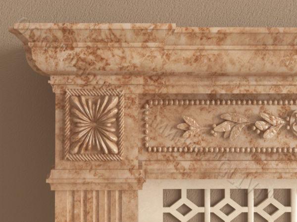 Имитация камина (фальш камин) из камня Арсений, каталог каминов, изображение, фото 4