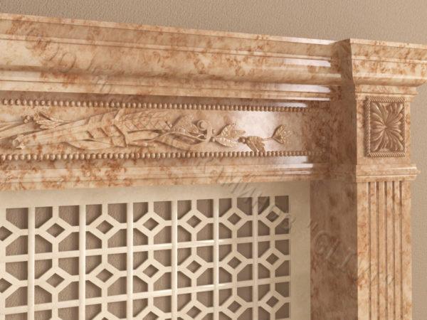 Имитация камина (фальш камин) из камня Арсений, каталог каминов, изображение, фото 5