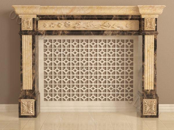 Имитация камина (фальш камин) из камня Арсений, каталог каминов, изображение, фото 8