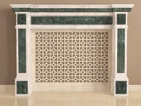 Имитация камина (фальш камин) из камня Арсений, каталог каминов, изображение, фото 9