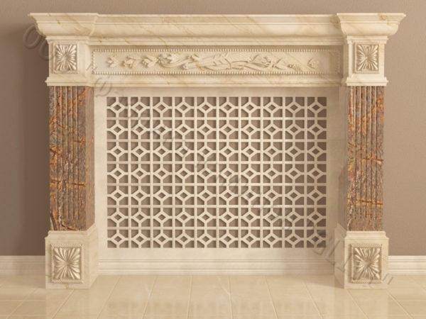 Имитация камина (фальш камин) из камня Арсений, каталог каминов, изображение, фото 11