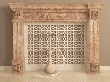 Имитация камина (фальш камин) из камня Арсений, каталог каминов, изображение, фото 1