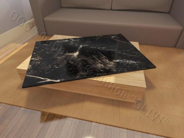 Накрывная столешница из натурального камня (мрамора) Астранция, изготовить на заказ, изображение, фото 2