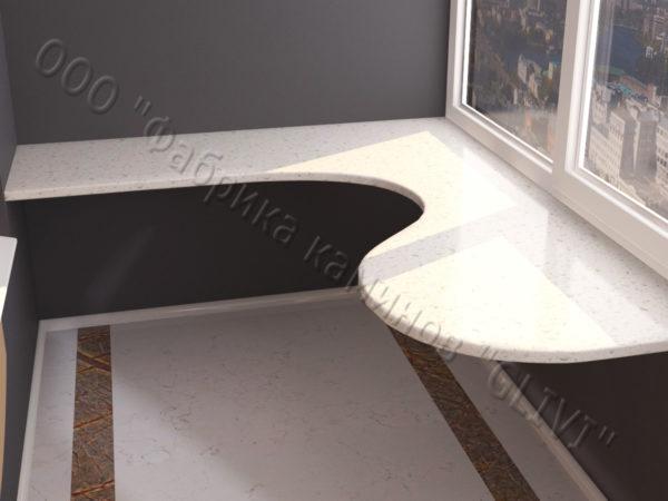Барная стойка для бара и балкона из натурального камня Атис, изображение, фото 2