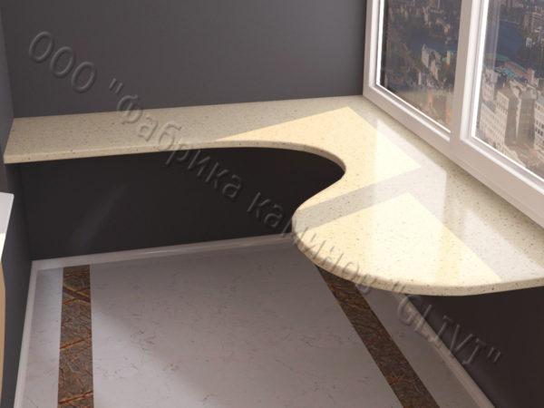 Барная стойка для бара и балкона из натурального камня Атис, изображение, фото 3
