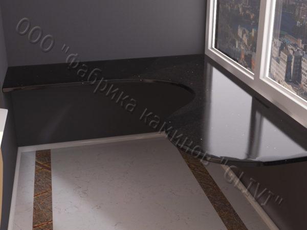 Барная стойка для бара и балкона из натурального камня Атис, изображение, фото 4