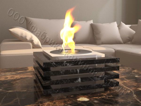 Мраморная облицовка (каминный портал) для камина на биотопливе Авиди, каталог (интернет-магазин) каминов из мрамора, изображение, фото 1