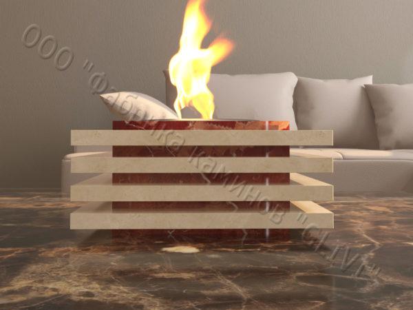 Мраморная облицовка (каминный портал) для камина на биотопливе Авиди, каталог (интернет-магазин) каминов из мрамора, изображение, фото 2