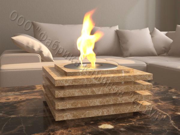 Мраморная облицовка (каминный портал) для камина на биотопливе Авиди, каталог (интернет-магазин) каминов из мрамора, изображение, фото 4