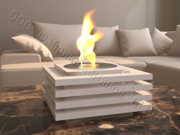 Мраморная облицовка (каминный портал) для камина на биотопливе Авиди, каталог (интернет-магазин) каминов из мрамора, изображение, фото 5