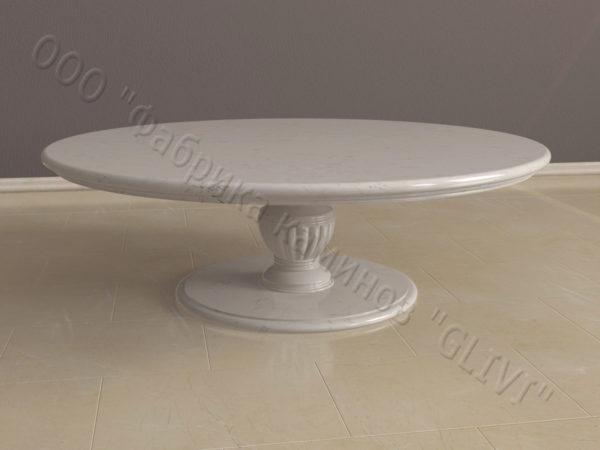 Стол из натурального камня (мрамора) Авро, интернет-магазин столов, изображение, фото 3