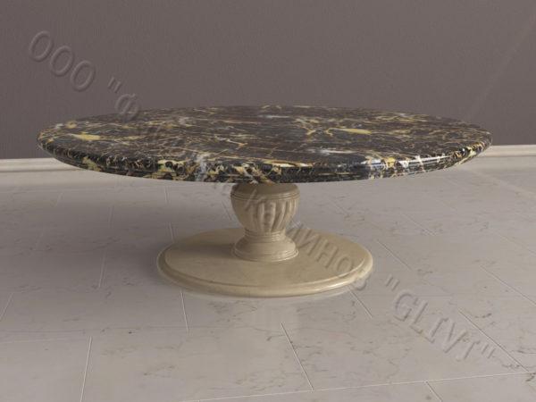 Стол из натурального камня (мрамора) Авро, интернет-магазин столов, изображение, фото 4