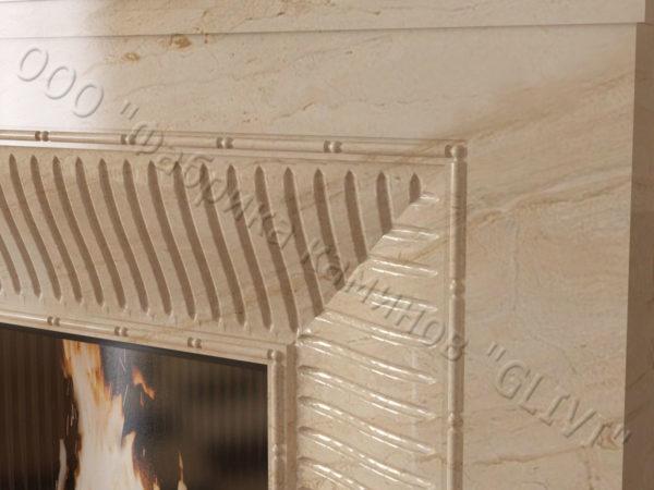 Мраморный каминный портал (облицовка) Баден, каталог (интернет-магазин) каминов из мрамора, изображение, фото 2
