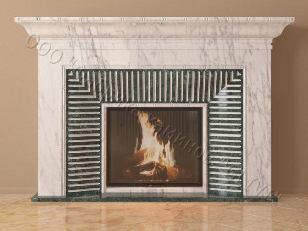 Мраморный каминный портал (облицовка) Баден, каталог (интернет-магазин) каминов из мрамора, изображение, фото 7