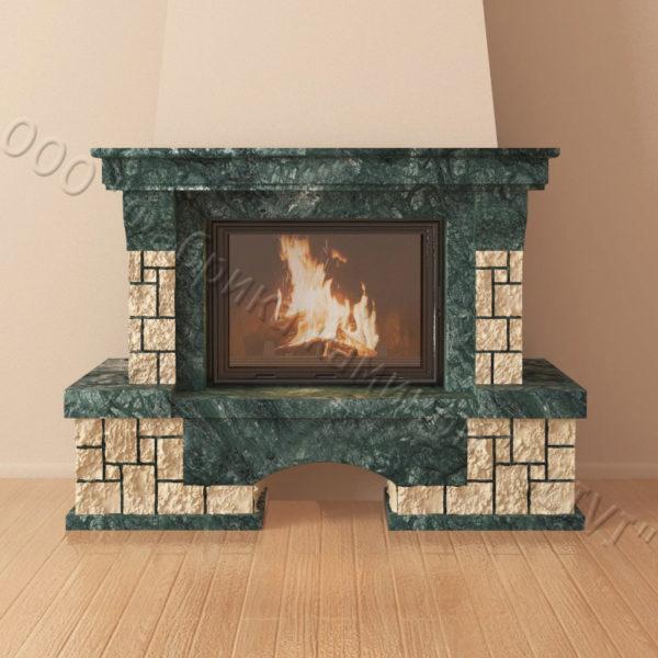 Мраморный каминный портал (облицовка) Бали, каталог (интернет-магазин) каминов из мрамора, изображение, фото 6
