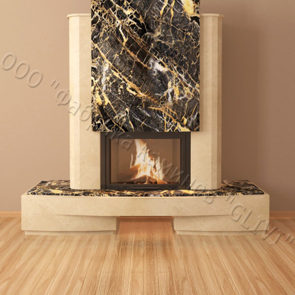 Мраморный каминный портал (облицовка) Барселона, каталог (интернет-магазин) каминов из мрамора, изображение, фото 2