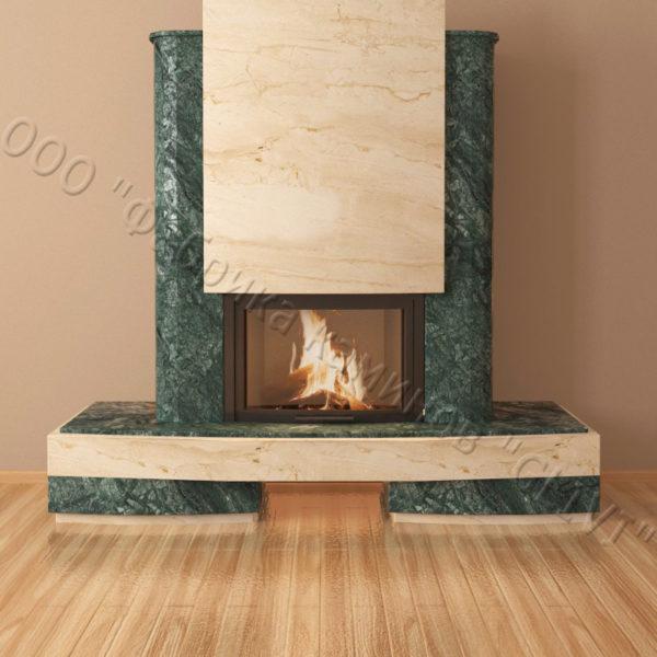Мраморный каминный портал (облицовка) Барселона, каталог (интернет-магазин) каминов из мрамора, изображение, фото 3