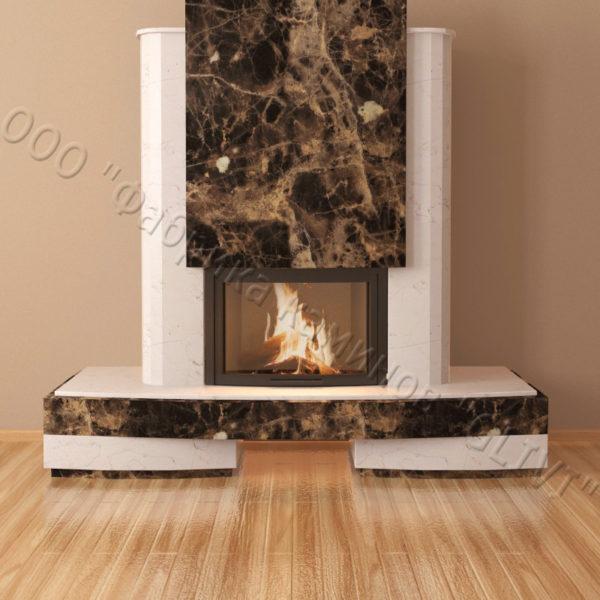 Мраморный каминный портал (облицовка) Барселона, каталог (интернет-магазин) каминов из мрамора, изображение, фото 4