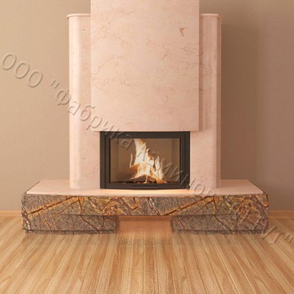 Мраморный каминный портал (облицовка) Барселона, каталог (интернет-магазин) каминов из мрамора, изображение, фото 5