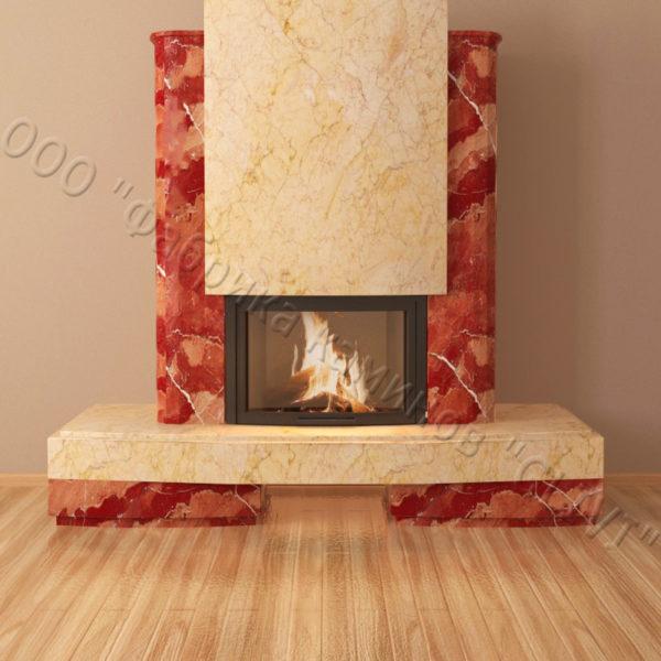 Мраморный каминный портал (облицовка) Барселона, каталог (интернет-магазин) каминов из мрамора, изображение, фото 6
