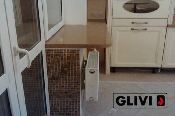 Столешница из искусственного (кварцевого) камня Бейдж, изготовить на заказ, изображение, фото 2