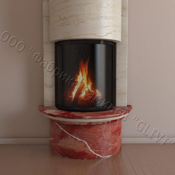 Мраморный каминный портал (облицовка) Беладжио, каталог (интернет-магазин) каминов из мрамора, изображение, фото 2