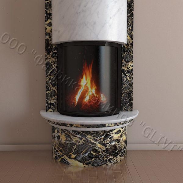 Мраморный каминный портал (облицовка) Беладжио, каталог (интернет-магазин) каминов из мрамора, изображение, фото 3
