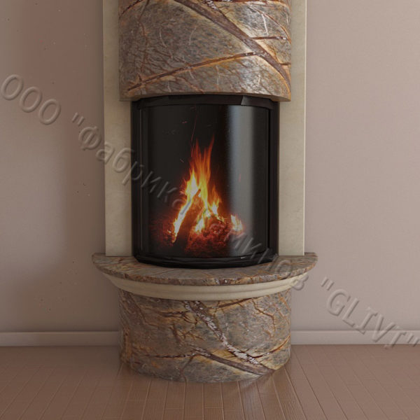 Мраморный каминный портал (облицовка) Беладжио, каталог (интернет-магазин) каминов из мрамора, изображение, фото 4