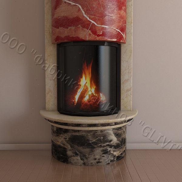 Мраморный каминный портал (облицовка) Беладжио, каталог (интернет-магазин) каминов из мрамора, изображение, фото 5