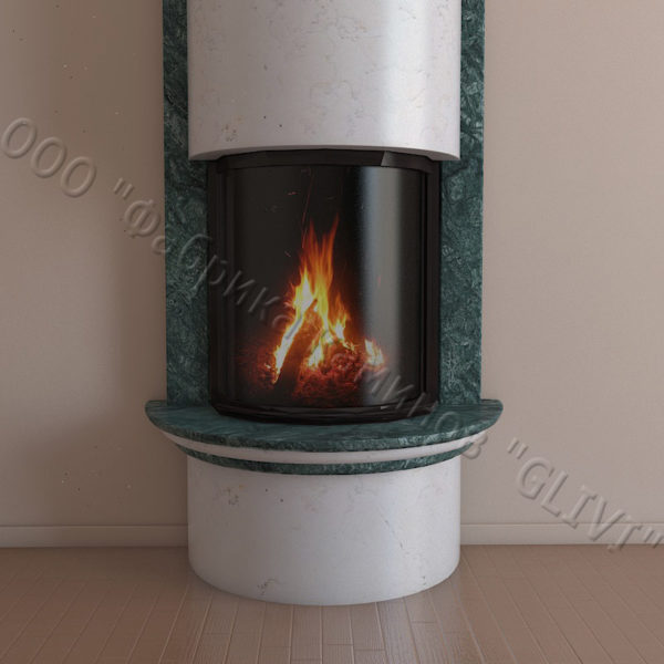 Мраморный каминный портал (облицовка) Беладжио, каталог (интернет-магазин) каминов из мрамора, изображение, фото 6