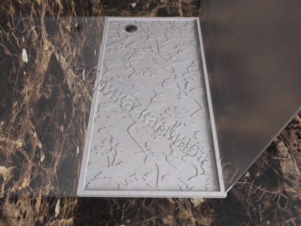 Поддон для душа Бирна мраморный, каталог душевых поддонов из камня, изображение, фото 2