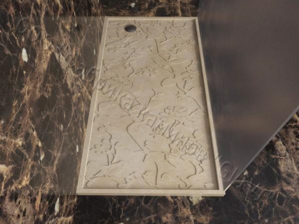 Поддон для душа Бирна мраморный, каталог душевых поддонов из камня, изображение, фото 3