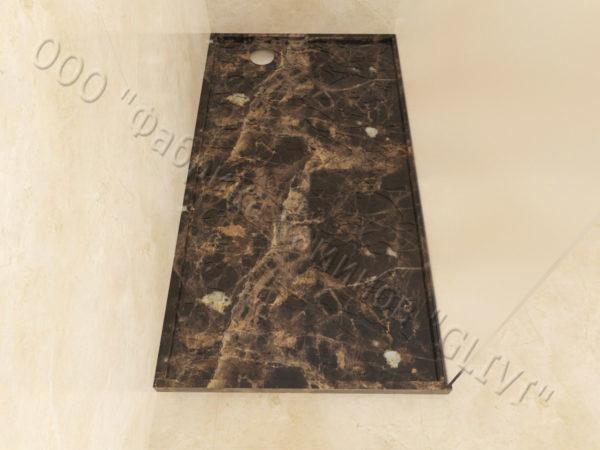Поддон для душа Бирна мраморный, каталог душевых поддонов из камня, изображение, фото 1