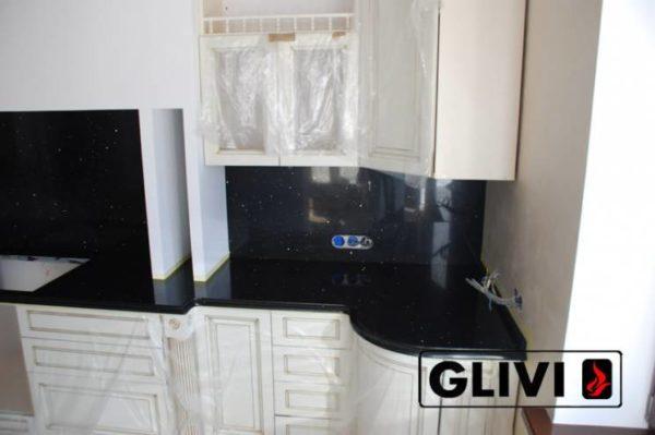 Столешница из искусственного (кварцевого) камня Блэк, изготовить на заказ, изображение, фото 1