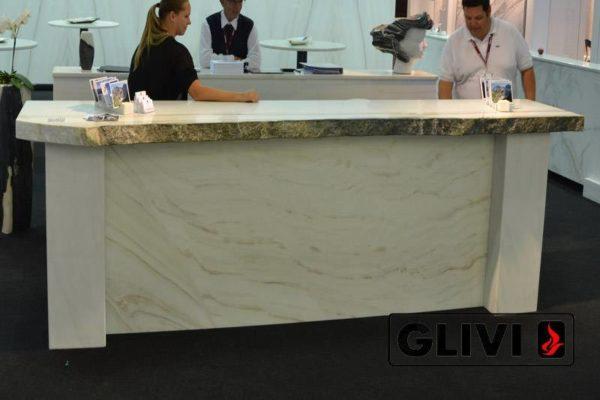 Барная стойка из натурального камня (мрамора) Болонья, изображение, фото 1