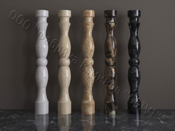 Балясины для балюстрад из мрамора Брейя, изображение, фото 1
