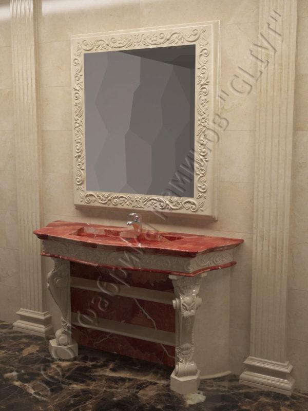 раморная раковина (умывальник) Брун, каталог раковин из камня, изображение, фото 3