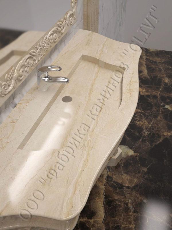 раморная раковина (умывальник) Брун, каталог раковин из камня, изображение, фото 6