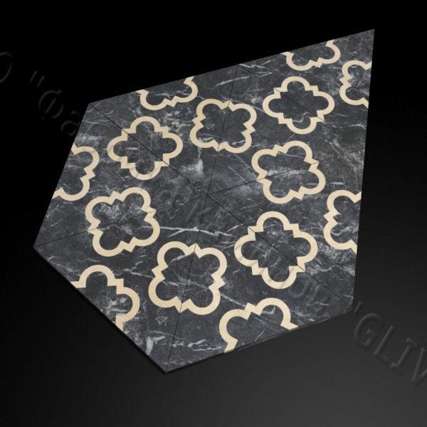 Плитка из натурального мрамора Бруния, изображение, фото 2