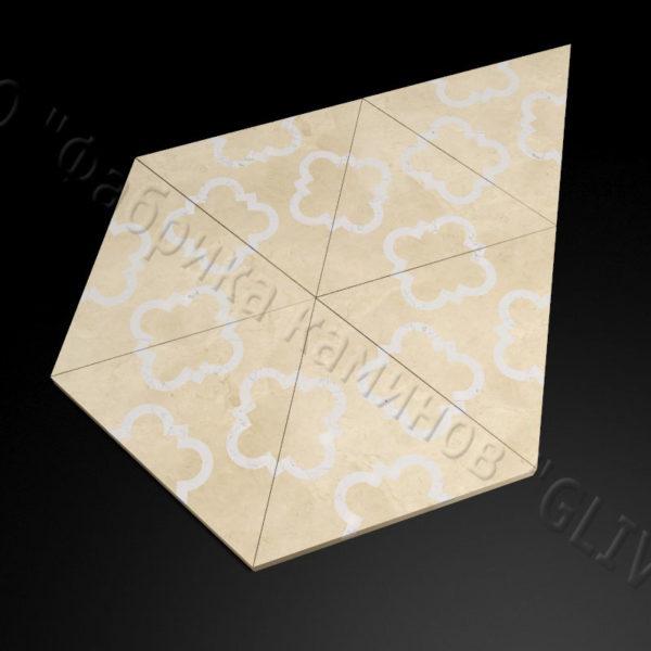 Плитка из натурального мрамора Бруния, изображение, фото 3