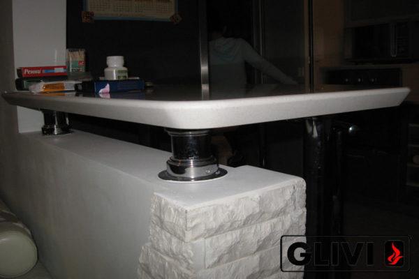 Барная стойка из искусственного (кварцевого) камня Чертан, изображение, фото 2