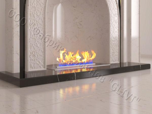 Мраморный каминный портал (облицовка) в восточном (арабском) стиле Дагман, каталог (интернет-магазин) каминов из мрамора, изображение, фото 5