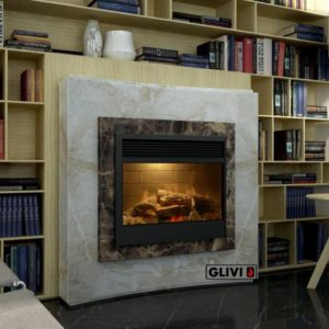 Мраморный каминный портал (облицовка) Даллас, каталог (интернет-магазин) каминов из мрамора, изображение, фото 1