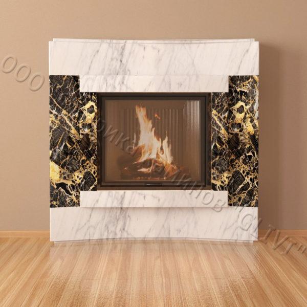 Мраморный каминный портал (облицовка) Даллас, каталог (интернет-магазин) каминов из мрамора, изображение, фото 2