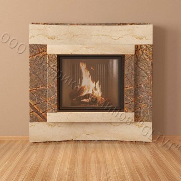 Мраморный каминный портал (облицовка) Даллас, каталог (интернет-магазин) каминов из мрамора, изображение, фото 3