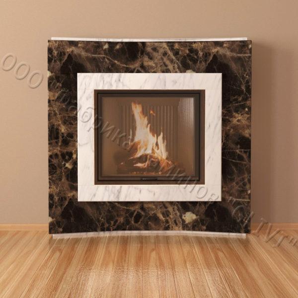 Мраморный каминный портал (облицовка) Даллас, каталог (интернет-магазин) каминов из мрамора, изображение, фото 4