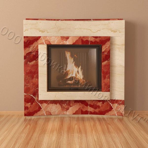 Мраморный каминный портал (облицовка) Даллас, каталог (интернет-магазин) каминов из мрамора, изображение, фото 5